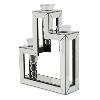 Aico Montreal Mirrored Glass Vase- 3 Tie