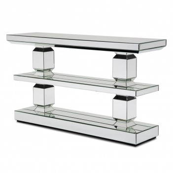 Aico Montreal Mirrored 3-Tier Console Table (3 Pc)