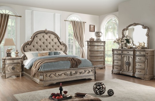 26930 Acme 5PC Queen Bedroom Northville Collection Antique