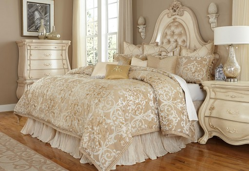 Michael Amini Luxembourg Comforter Bedding Set by Aico