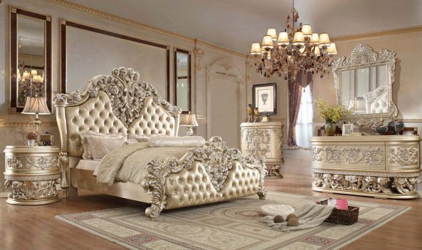 HD 8022 Homey Design Bedroom set Victorian, European & Classic