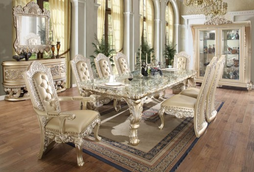 Hd 8022 Dining Set Homey Design Victorian European Classic Design