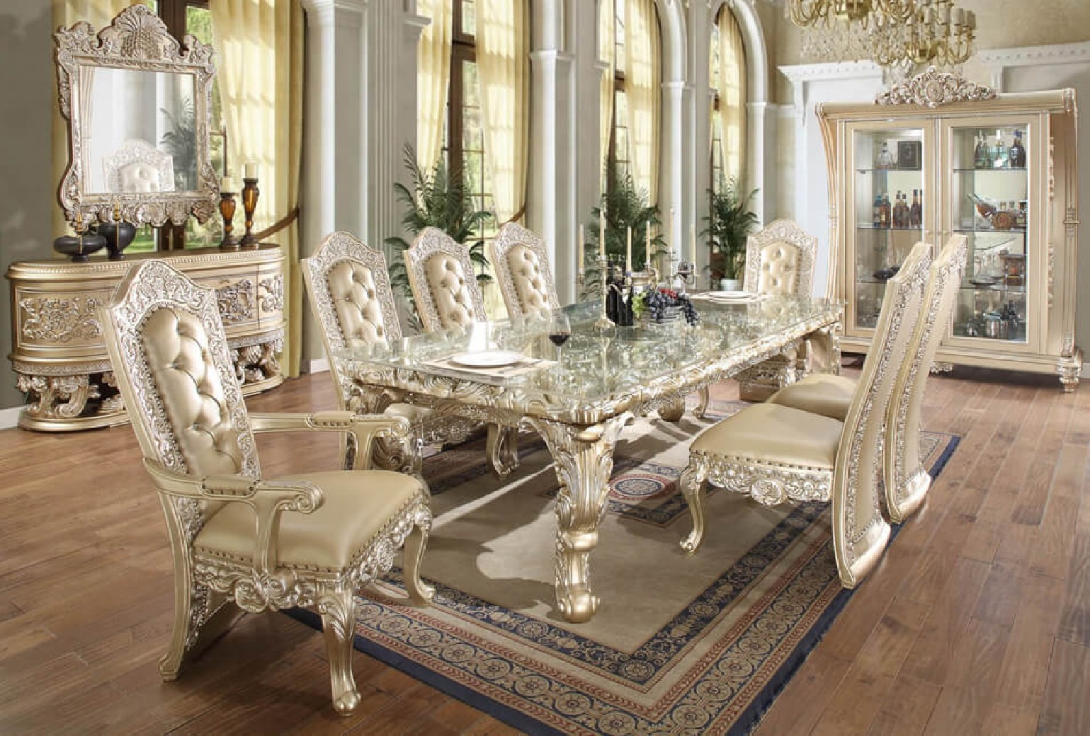 HD 8022 Dining Set Homey Design Victorian, European U0026 Classic