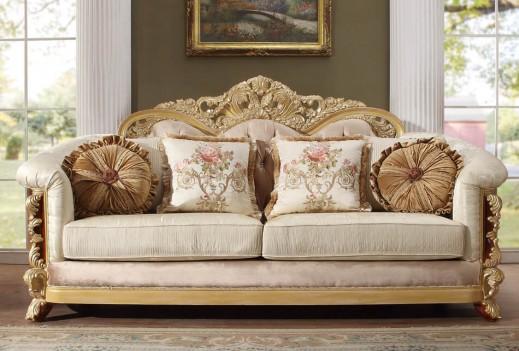 HD 821 Homey Design upholstery living room set Victorian