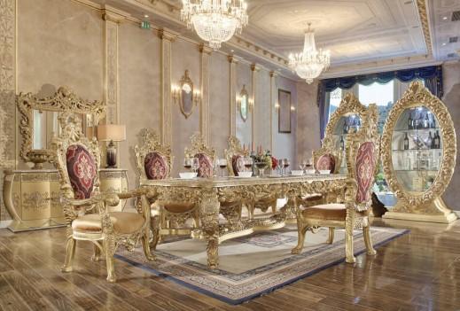 Hd 8086 Dining Set Homey Design Victorian European
