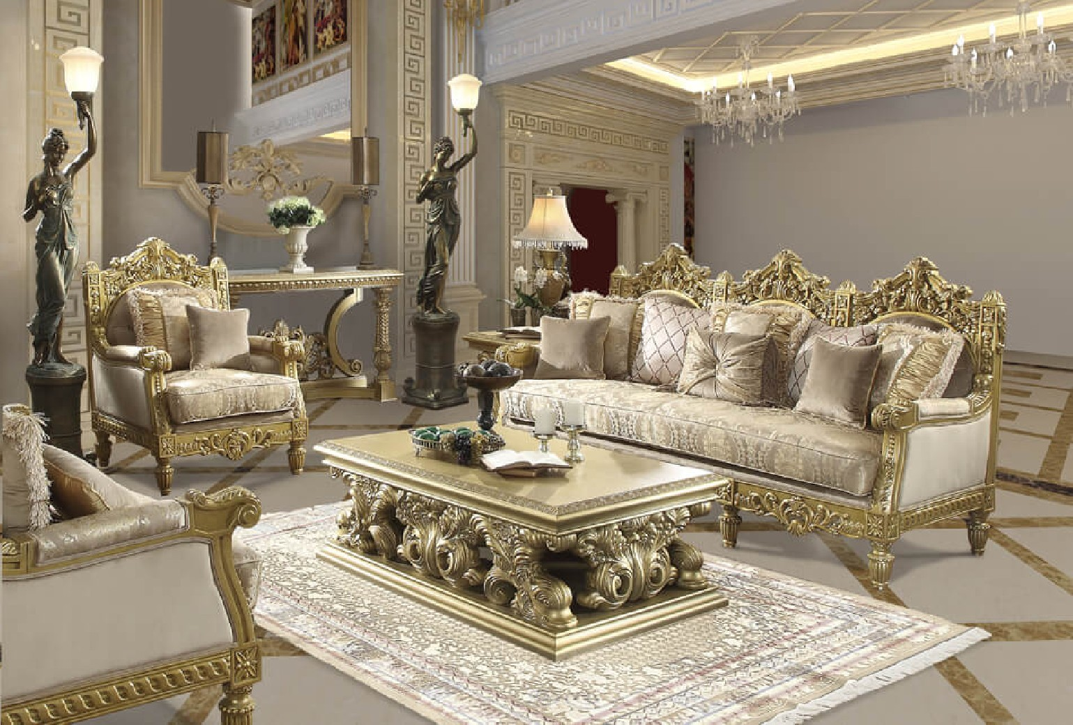 HD 2659 Homey Design upholstery living room set Victorian, European &  Classic design Sofa Set
