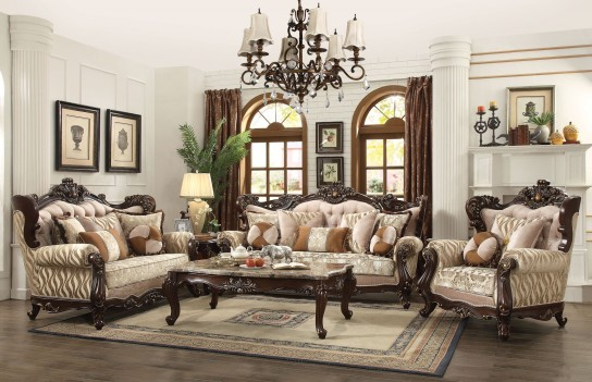 51050 Shalisa Sofa collection by Acme wing back style Walnut