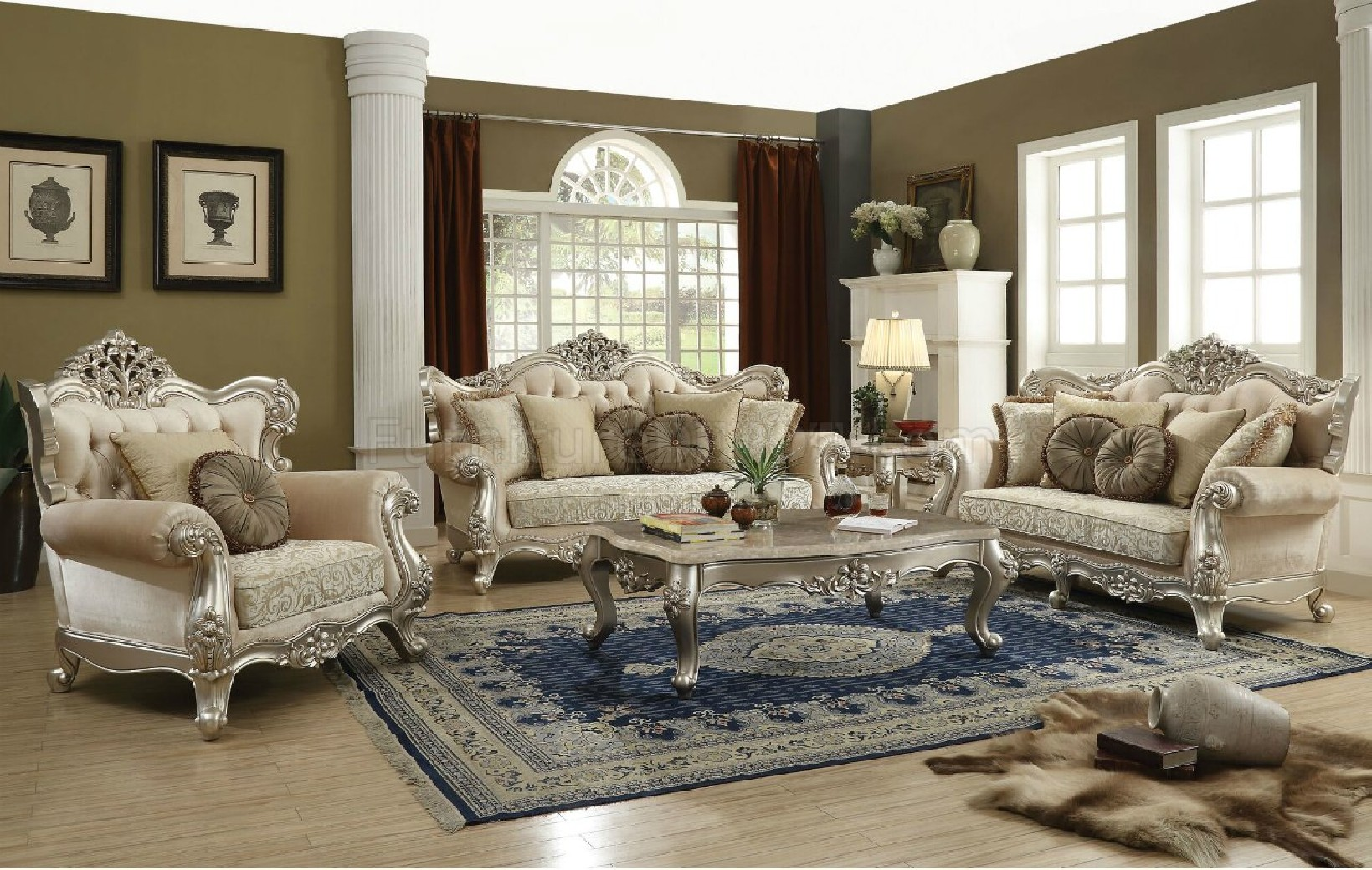50660 Bently Sofa Collection Classic French Victorian Style By Acme Furniture