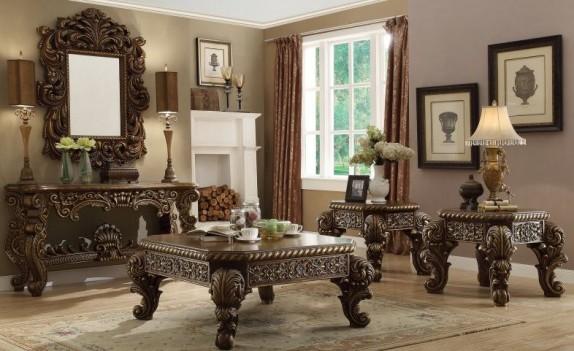 HD 610 Homey Design upholstery living room set Victorian