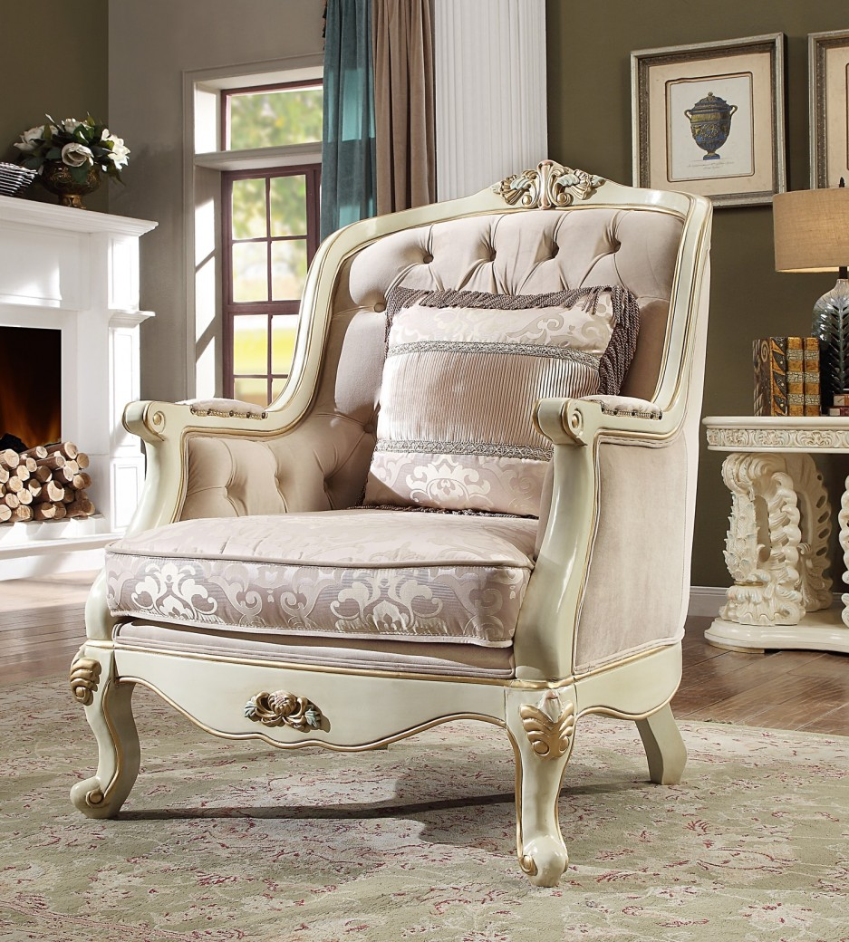 HD 2011 Homey Design upholstery accent chair Victorian