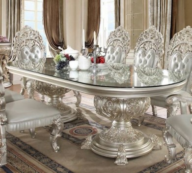 HD 8088 Dining Set Homey Design Victorian, European & Classic