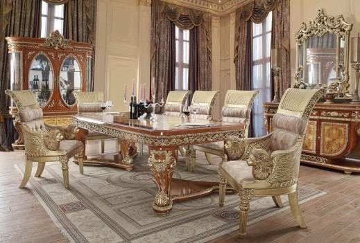HD 8024 Dining Set Homey Design Victorian, European & Classic