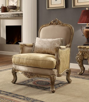 HD 2626 Homey Design Upholstery Accent Chair Victorian
