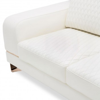Aico by Michael Amini Mia Bella Bianca Leather Sofa