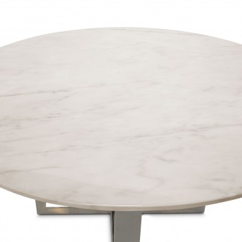 Aico by Michael Amini Halo Round Marble Top Dining Table (2 pc)