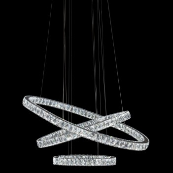 Aico by Michael Amini Lighting Asteroids LED Chandelier Oval