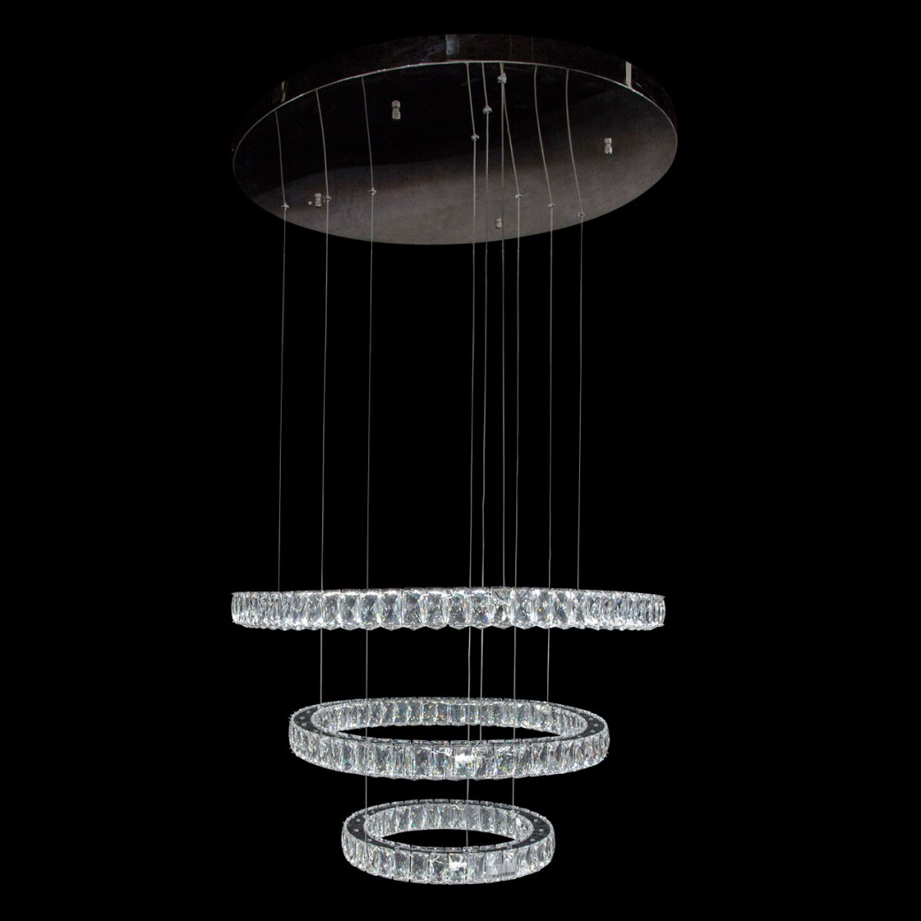 Aico by Michael Amini Lighting Asteroids LED Chandelier Round