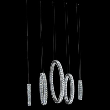 Aico by Michael Amini Lighting Solar Hoops LED Chandelier Large