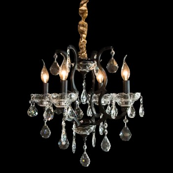 Aico by Michael Amini Beauport 4 Light Chandelier
