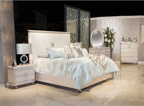 Aico by Michael Amini Glimmering Heights bedroom set