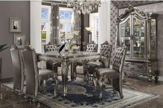 66835 Acme Counter Height Versailles Antique Platinum Finish