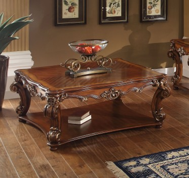 Acme 82002 Coffee Table Vendome Collection Cherry Finish