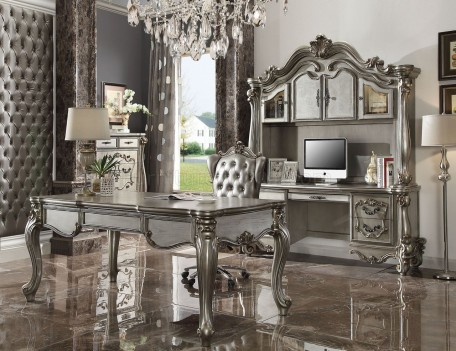 92820 Acme Office set Versailles II Collection Silver / Antique