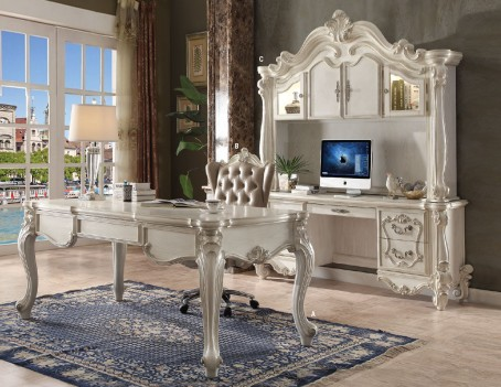 92275 Bone White Finish Office Set Acme Versailles collection