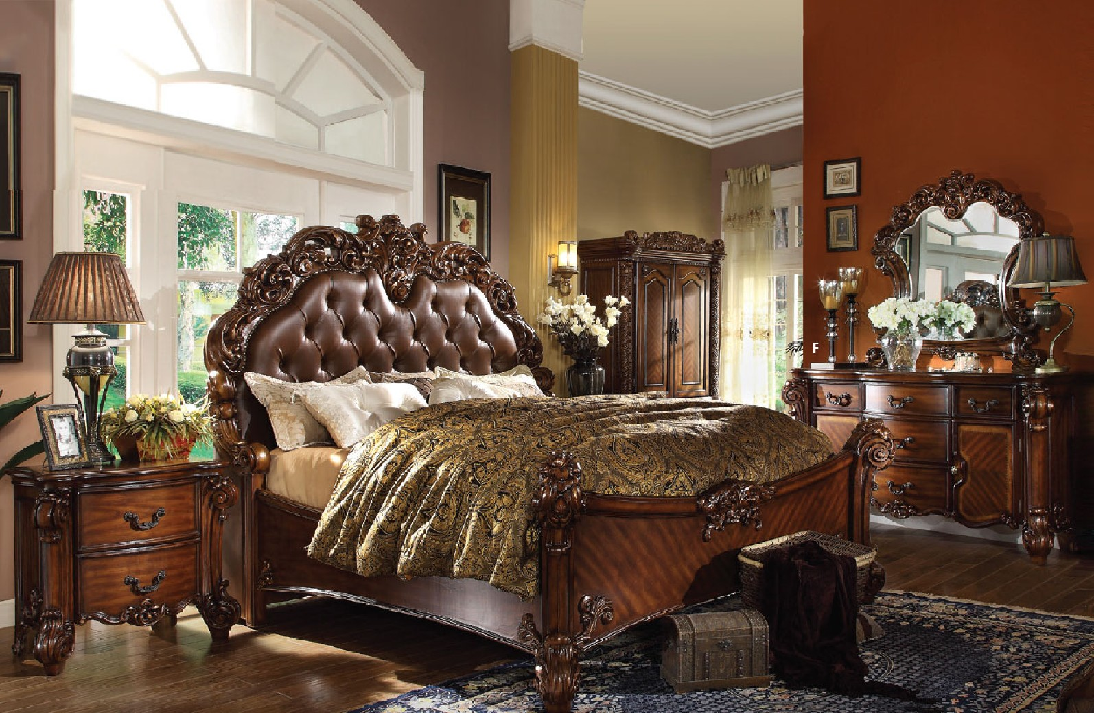 22000 ACME  Vendome Bedroom Set Cherry Collection