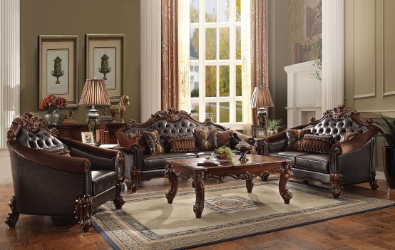 Acme 53130 Living Room Vendome II Collection Cherry Finish