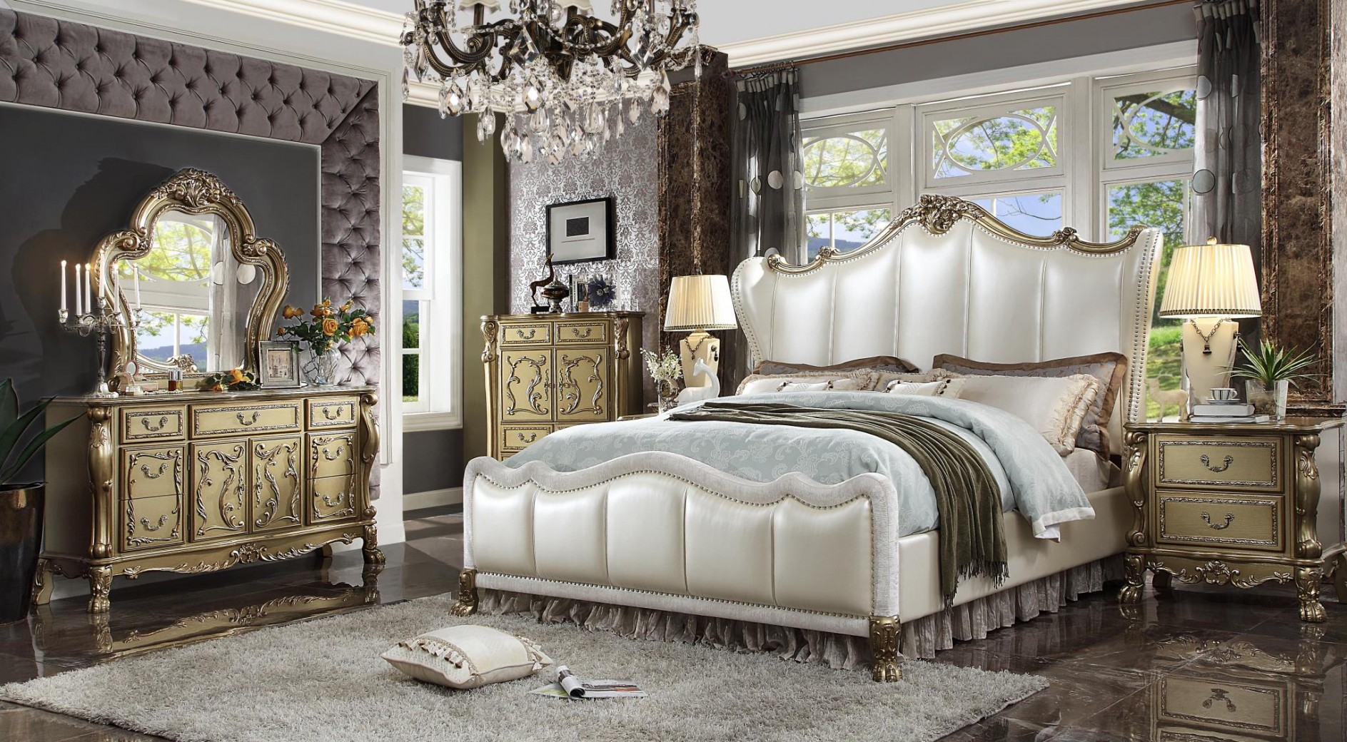 Bedroom Sets Acme Dresden Bedroom Set
