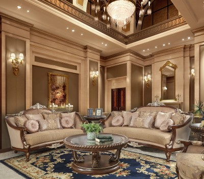 HD 8320 Homey Design Upholstery Living Room Set Victorian, European &  Classic Design Sofas