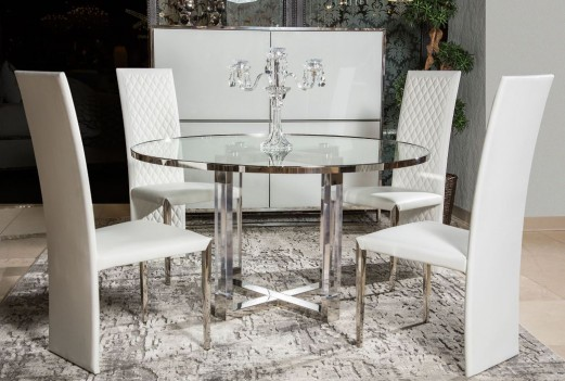 Round Dining Table W/Glass...