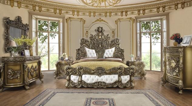 Hd 1802 Homey Design Bedroom Set, Victorian Style Furniture