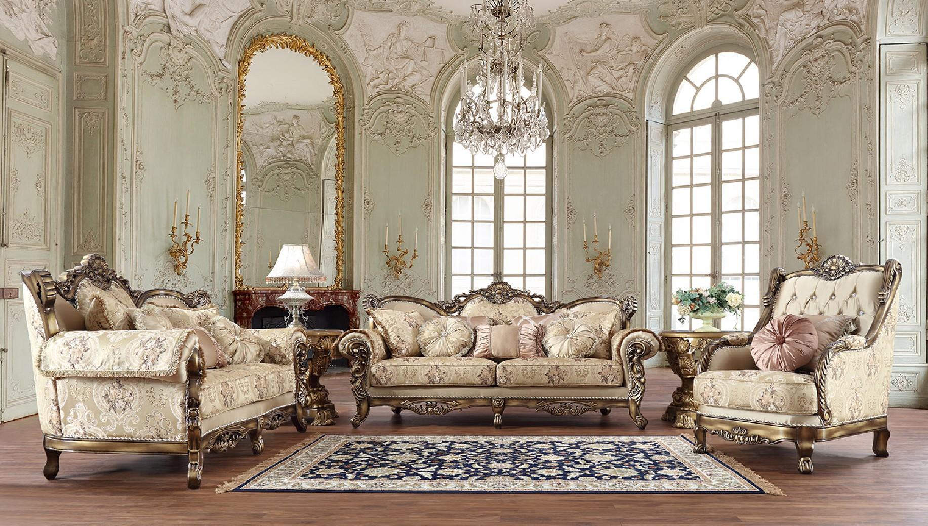 HD 506 Homey Design Upholstery Living Room Set Victorian ...
