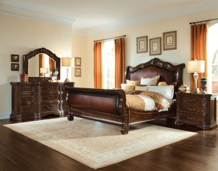 Valencia Dark Oak Finish Bedroom Set by A.R.T. Furniture
