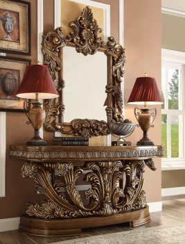 HD 8018 Homey Design Console Table Victorian, European &