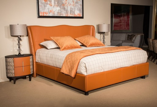 Upholstered Wing Bed Set 21...