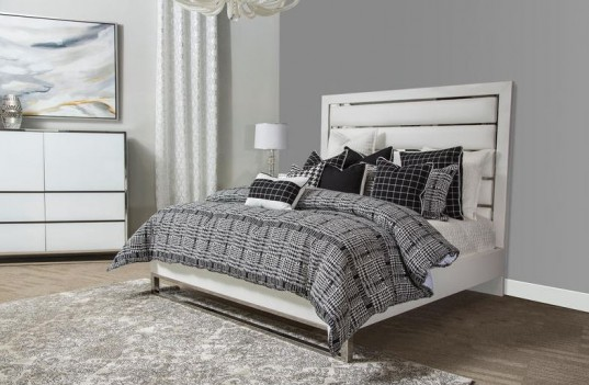 Upholstered Panel Bed State...