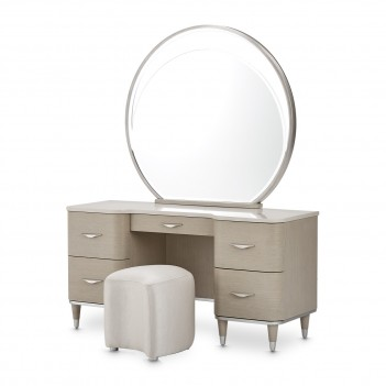 3 PC Vanity Desk Mirror &...
