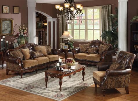 05495 Living Room Brown PU...