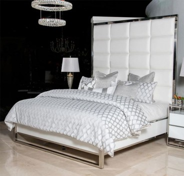 King Metal Panel Bed Glossy...
