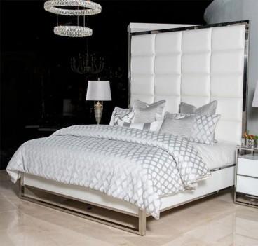 King Metal Panel Bed Glossy...