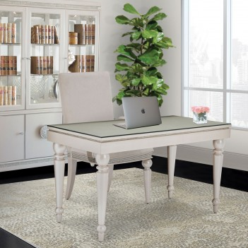 Writing Desk With Glass Top...