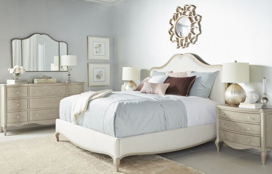 Bedroom Panel Bed Charme...