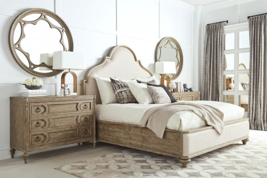 Upholstered Panel Bed...