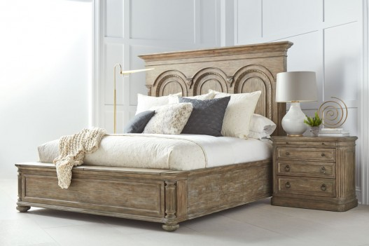 Bedroom with Panel Bed...