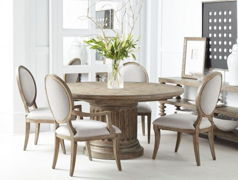Round Dining Table Rustic...