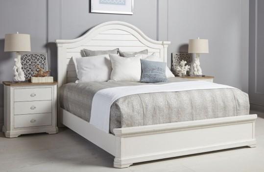 Panel Bed White Finish...