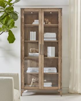 Curio Cabinet Light Oak...